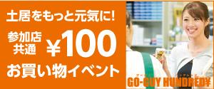 ゴーガイハンドレッド100円お買い物イベント