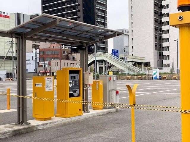 京阪本通のパーキング閉鎖
