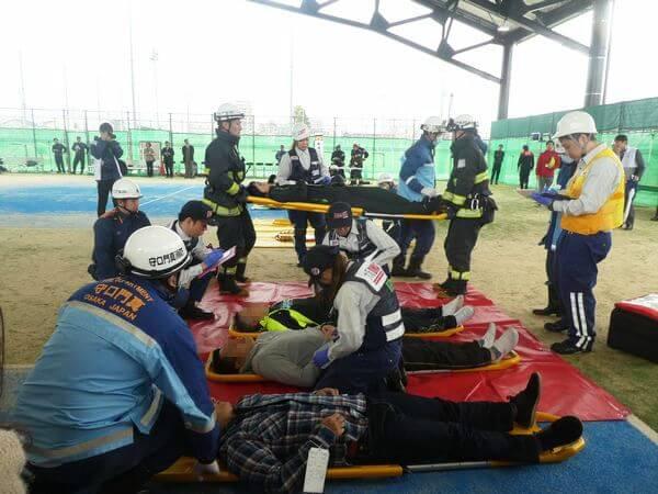 大枝公園で災害訓練