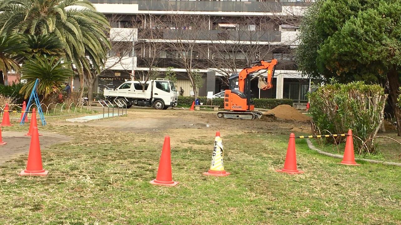 日吉公園の遊具が撤去